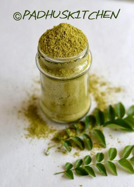 Karuveppilai podi-curry leaves powder