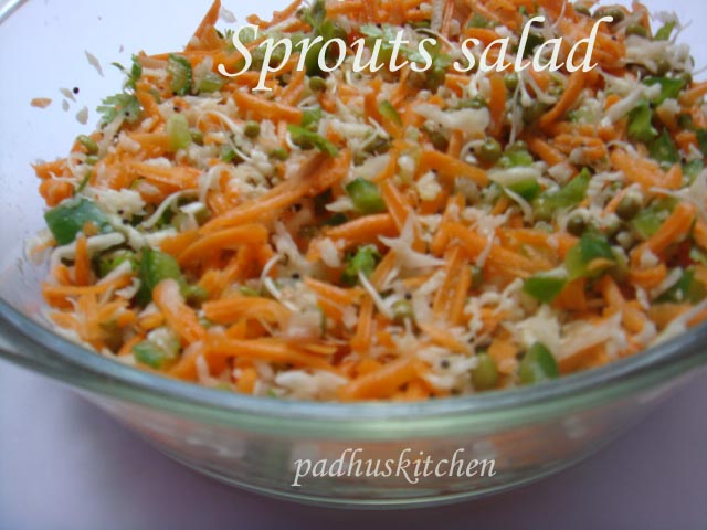 sprouts salad-green gram sprout salad
