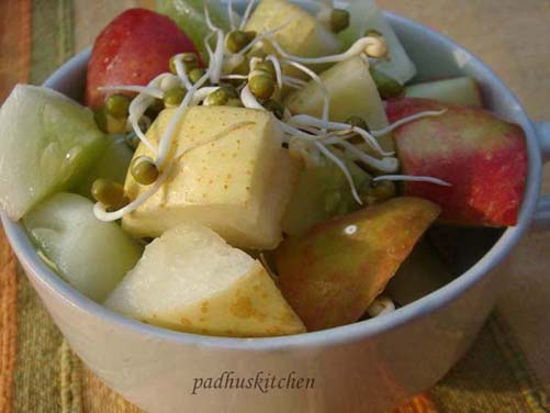 fruits and sprout salad