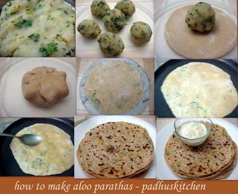 aloo paratha-step by step pics