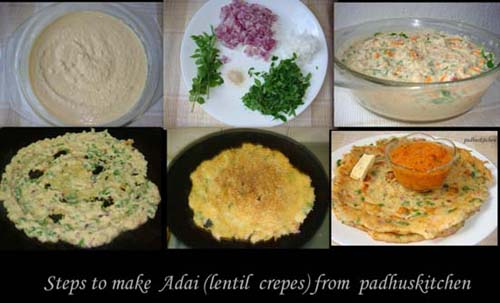 South Indian Adai- step by step pictures