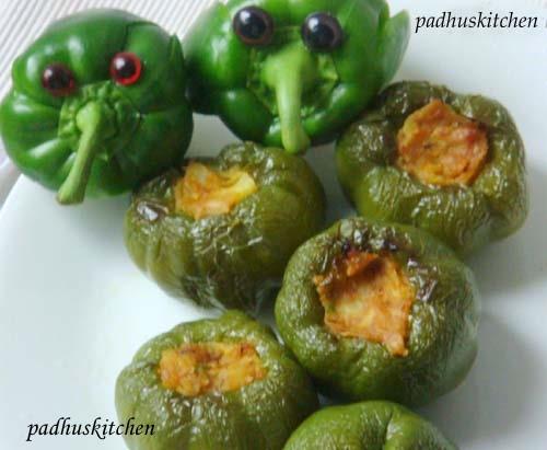 Stuffed Capsicums curry-stuffed bell pepper