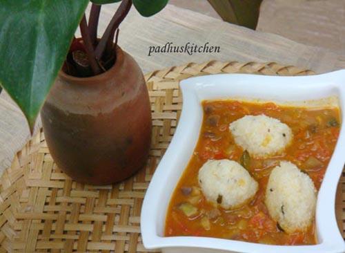 upma kozhakattai-steamed rice balls