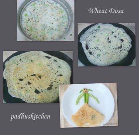 dosa variety-wheat dosa