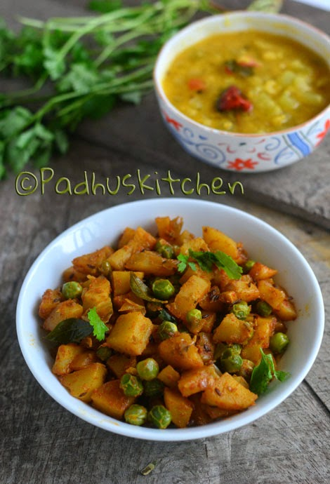 Aloo Matar Recipe Padhuskitchen