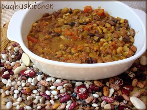 Mixed beans curry