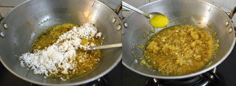 preparation -stuffing for sweet kozhukattai