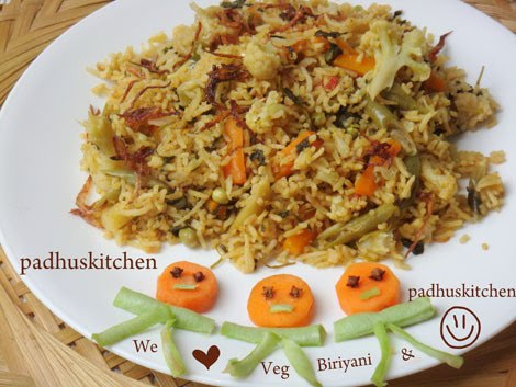 Vegetable Biryani Vegetable Biryani Recipe How To Prepare Vegetable Biryani Padhuskitchen