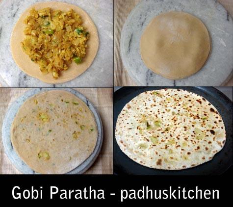 Gobi Paratha-cauliflower paratha