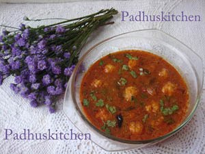 How to prepare paruppu urundai kulambu