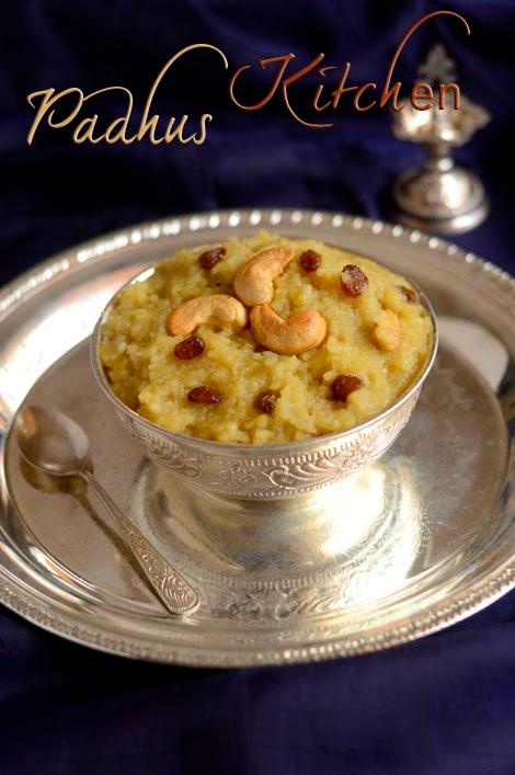 Sweet Pongal Recipe Sakkarai Pongal Chakkarai Pongal Padhuskitchen