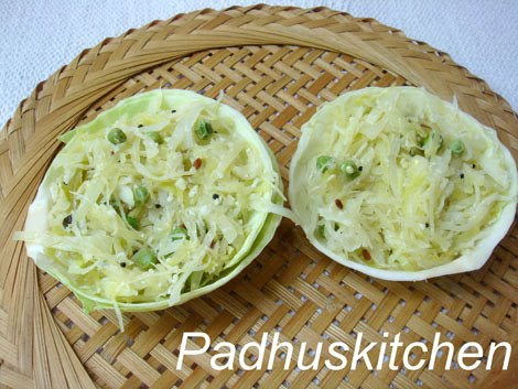 Cabbage Stir Fry Cabbage Poriyal Padhuskitchen
