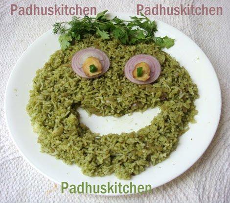 Coriander rice-Kothamalli Sadam