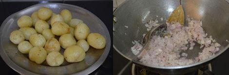 preparation for making dum aloo