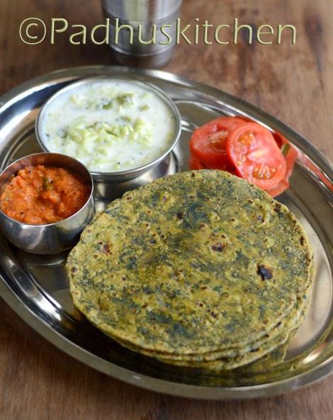 Palak paratha-Spinach paratha