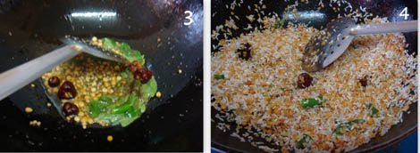 preparing seasoning for pasi paruppu sadam