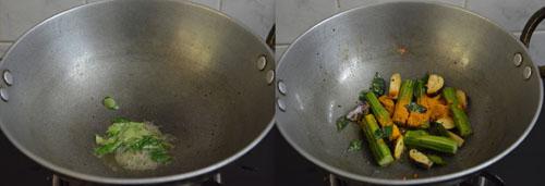 South Indian style raw mango sambar