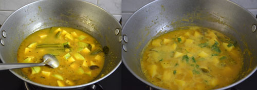how to make raw mango sambar