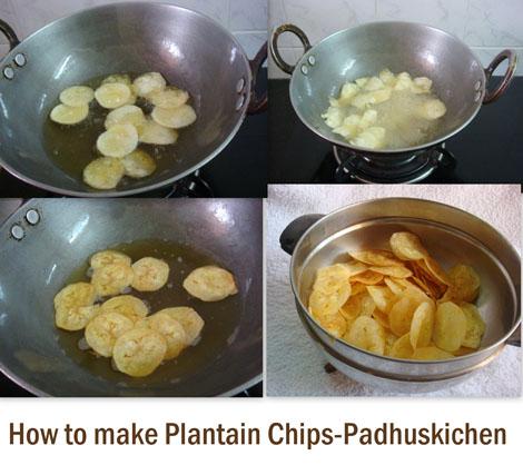 how to make Plantain chips-Vazhakkai varuval