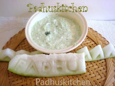 Pumpkin raita-Ash gourd pachadi