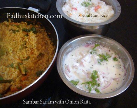 Sambar Sadam-Tamil Style