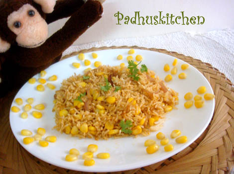 Sweet Corn rice-corn pulao