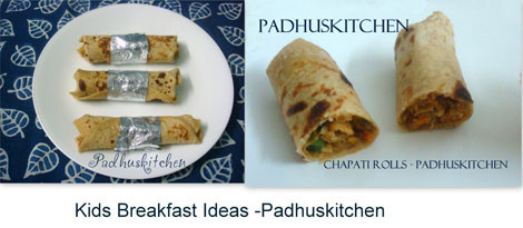 Chapati rolls-Kids recipes