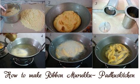 How to make ribbon murukku-ribbon pakoda
