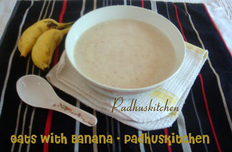 oats with banana-breakfast recipe