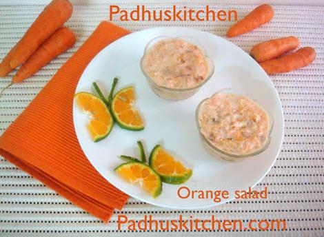 orange carrot salad-carrot orange salad