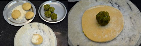 how to make peas paratha