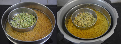 pressure cooked mochai and dal
