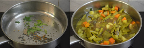 how to make ezhukari kootu