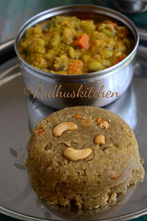 Thiruvathirai kali recipe and Ezhukari Kootu