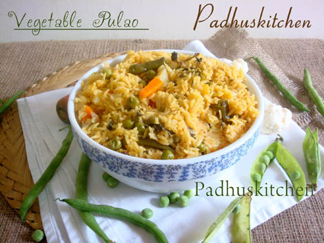 Vegetable Pulao-How to make vegetable pulao