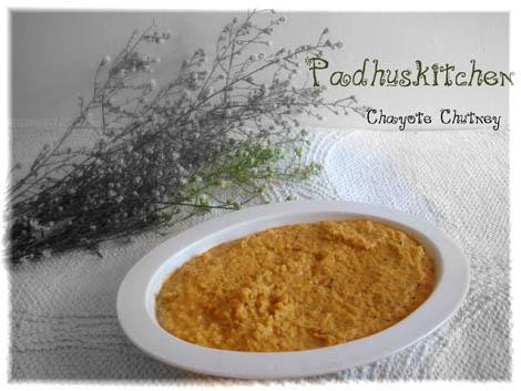 Chow Chow Chutney-Chayote Chutney