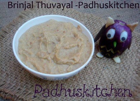 Brinjal Chutney-Kathirikkai Thogayal