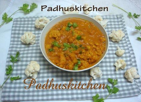 Cauliflower masala-Gobi masala recipe
