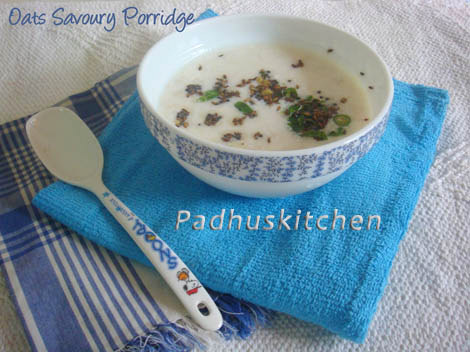 Oats Savoury Porridge-Oats with Buttermilk