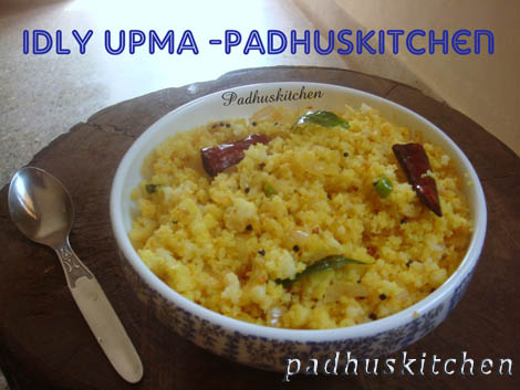 Idli Upma Recipe-Idli Upma with leftover idlis