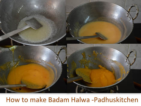 How to make Badam halwa-almond halwa
