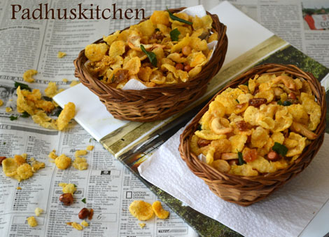 Cornflakes Mixture/Chivda Recipe
