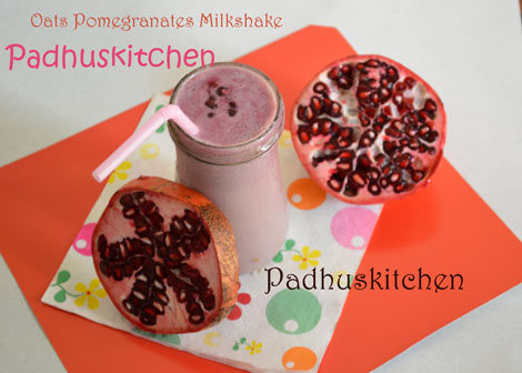 Pomegranates Oats Smoothie