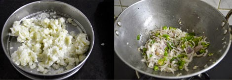 preparation for South Indian masala dosa
