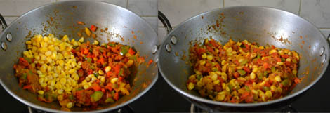 how to make capsicum corn masala