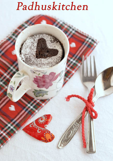 5 Minutes Microwave Chocolate Cake in a mug