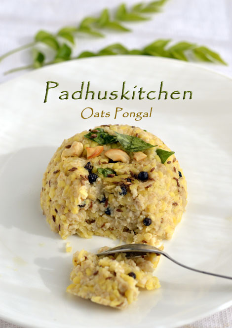 Oats Pongal-Indian Oats Breakfast Recipe