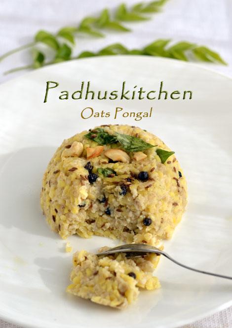 Oats Pongal-Indian Oats Breakfast Recipe
