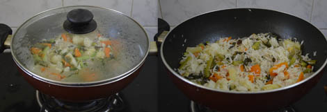 how to make Vegetable rice