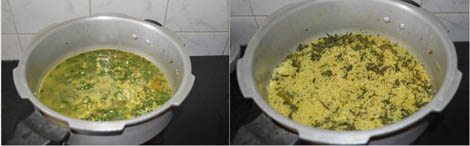 how to make palak khichdi